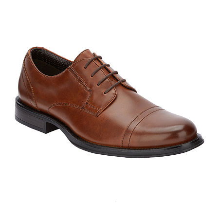 Dockers Mens Garfield Lace-up Oxford Shoes, 9 1/2 Wide, Brown