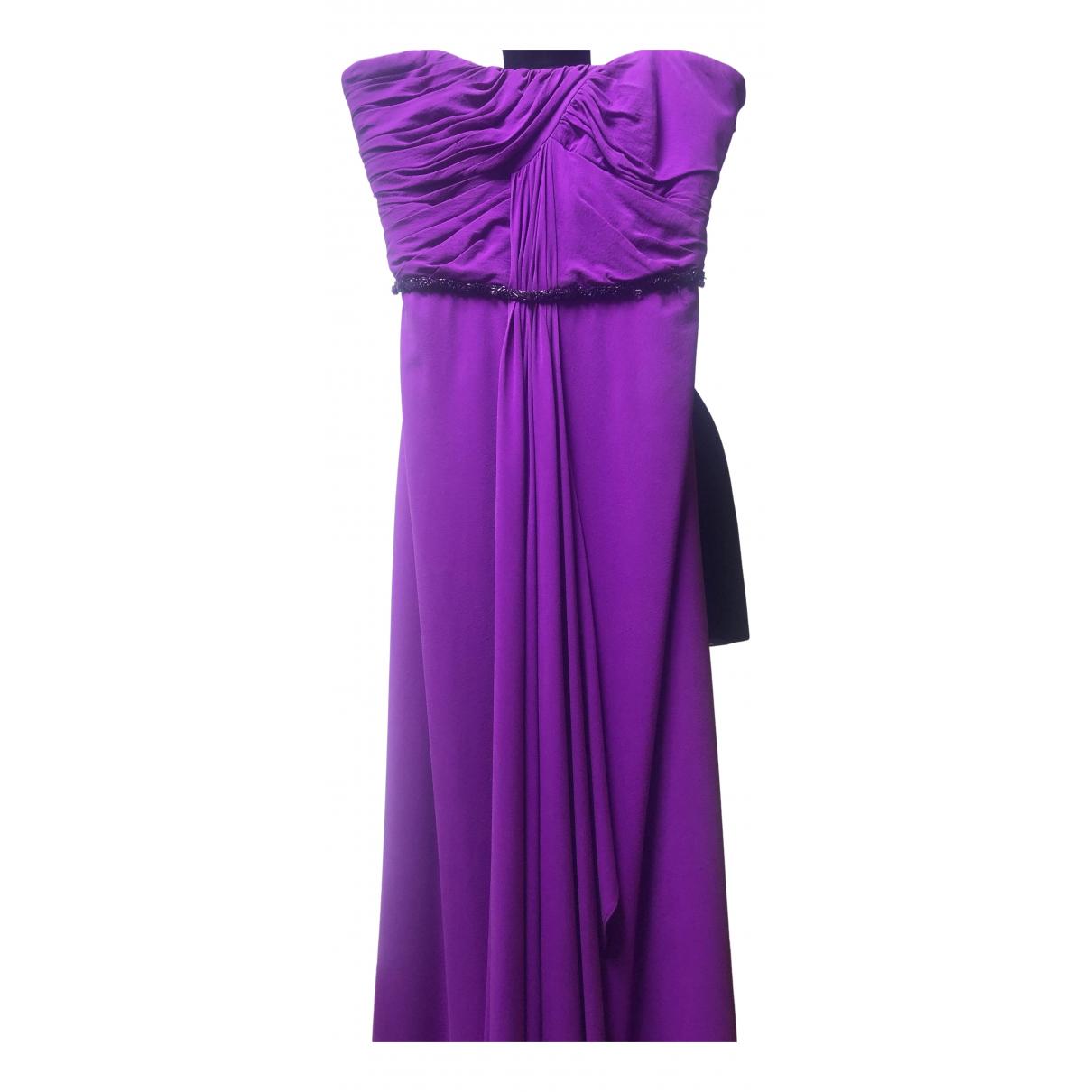 Badgley Mischka - Robe   pour femme en soie - violet
