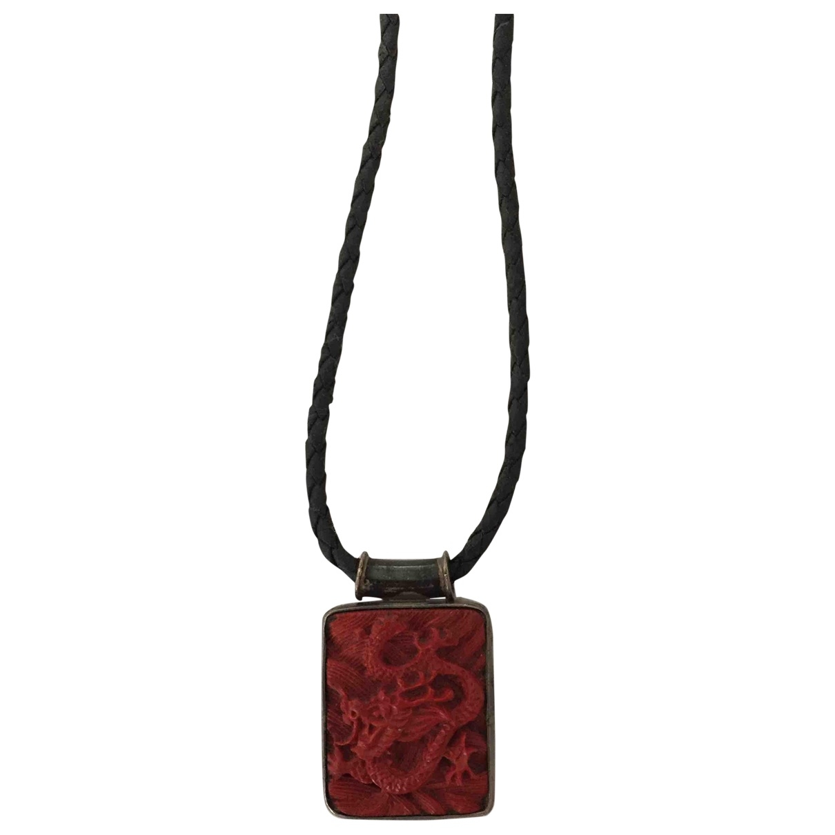 Non Signé / Unsigned Motifs Ethniques Red Metal pendant for Women \N