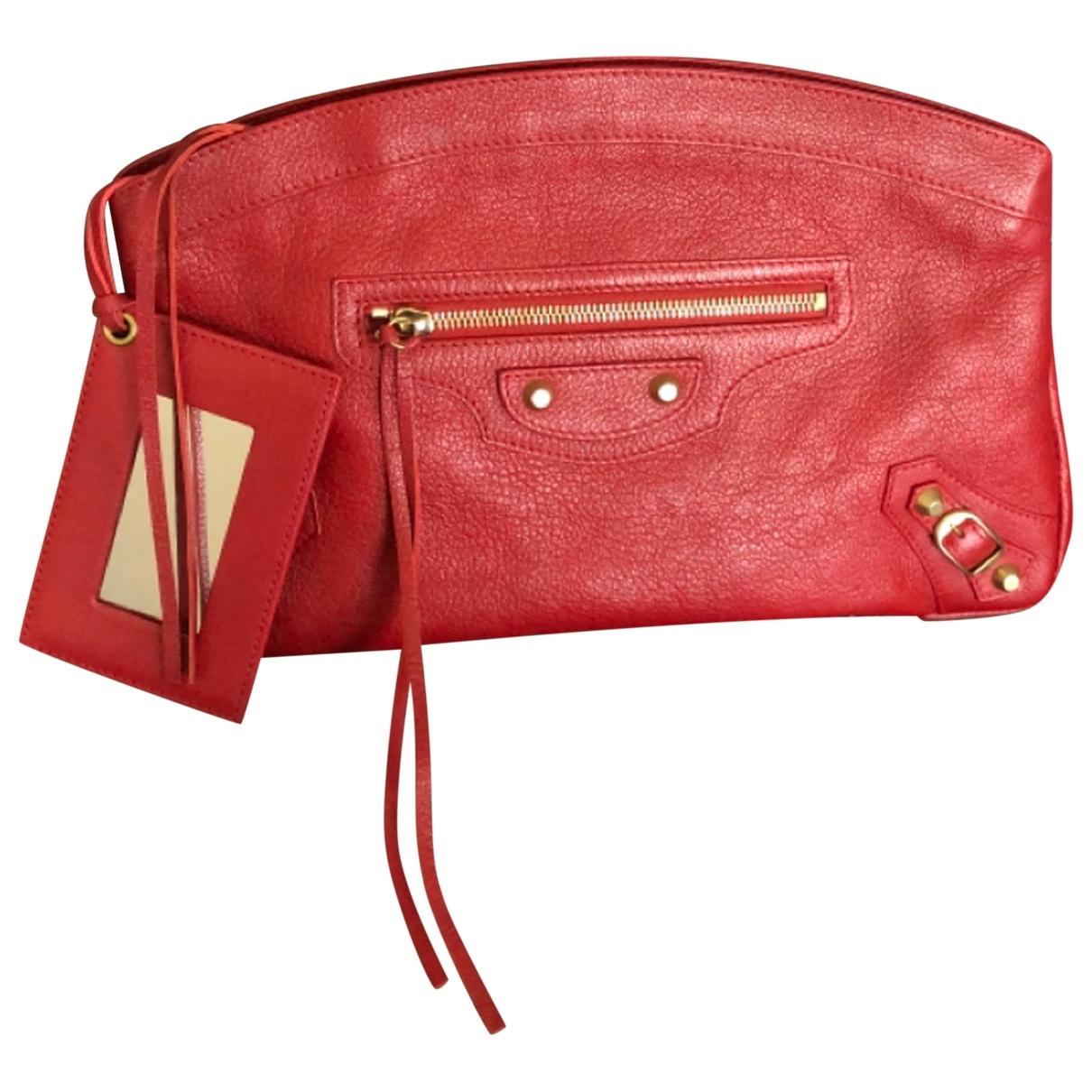 Balenciaga - Pochette City pour femme en cuir - rouge