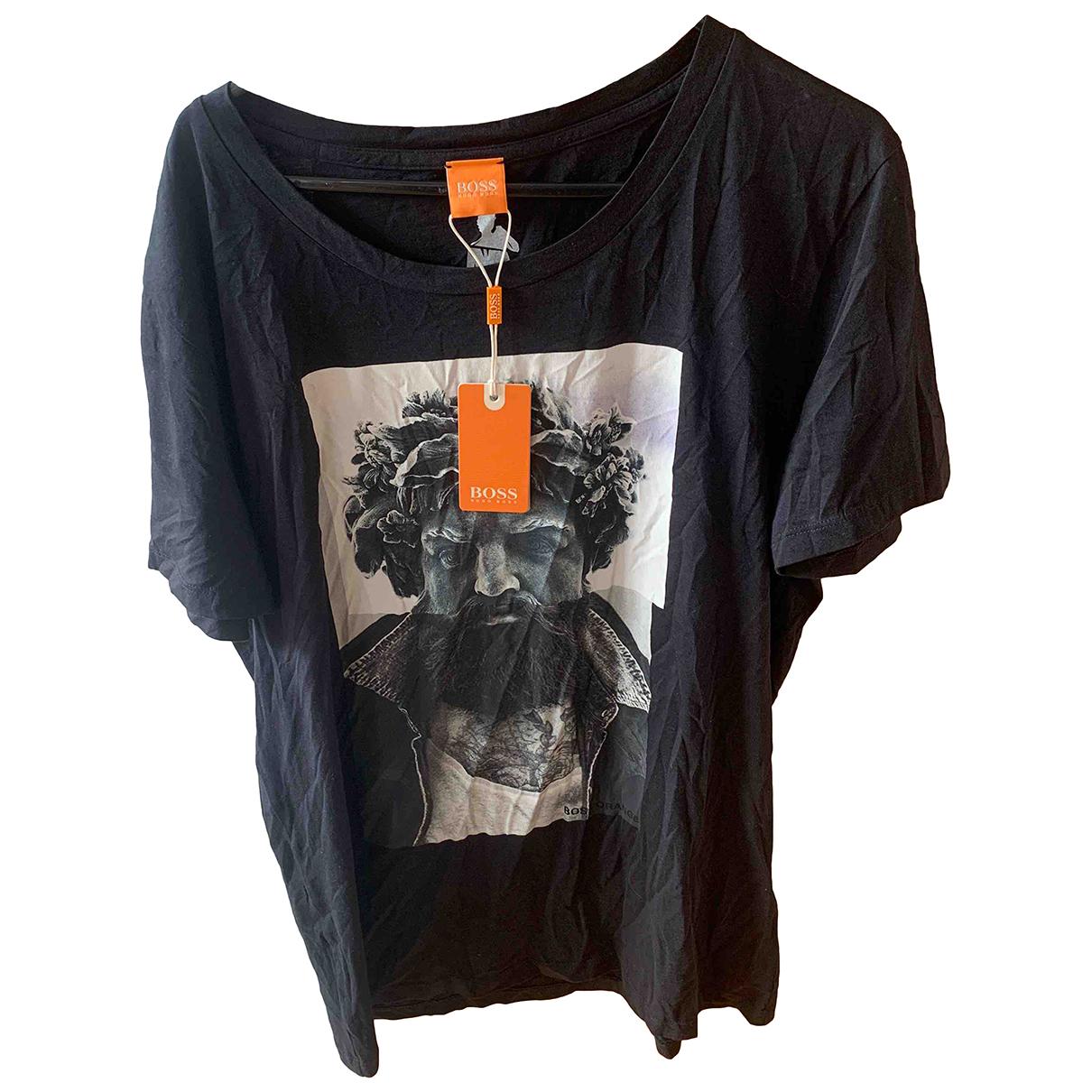 Boss - Tee shirts   pour homme en coton - noir