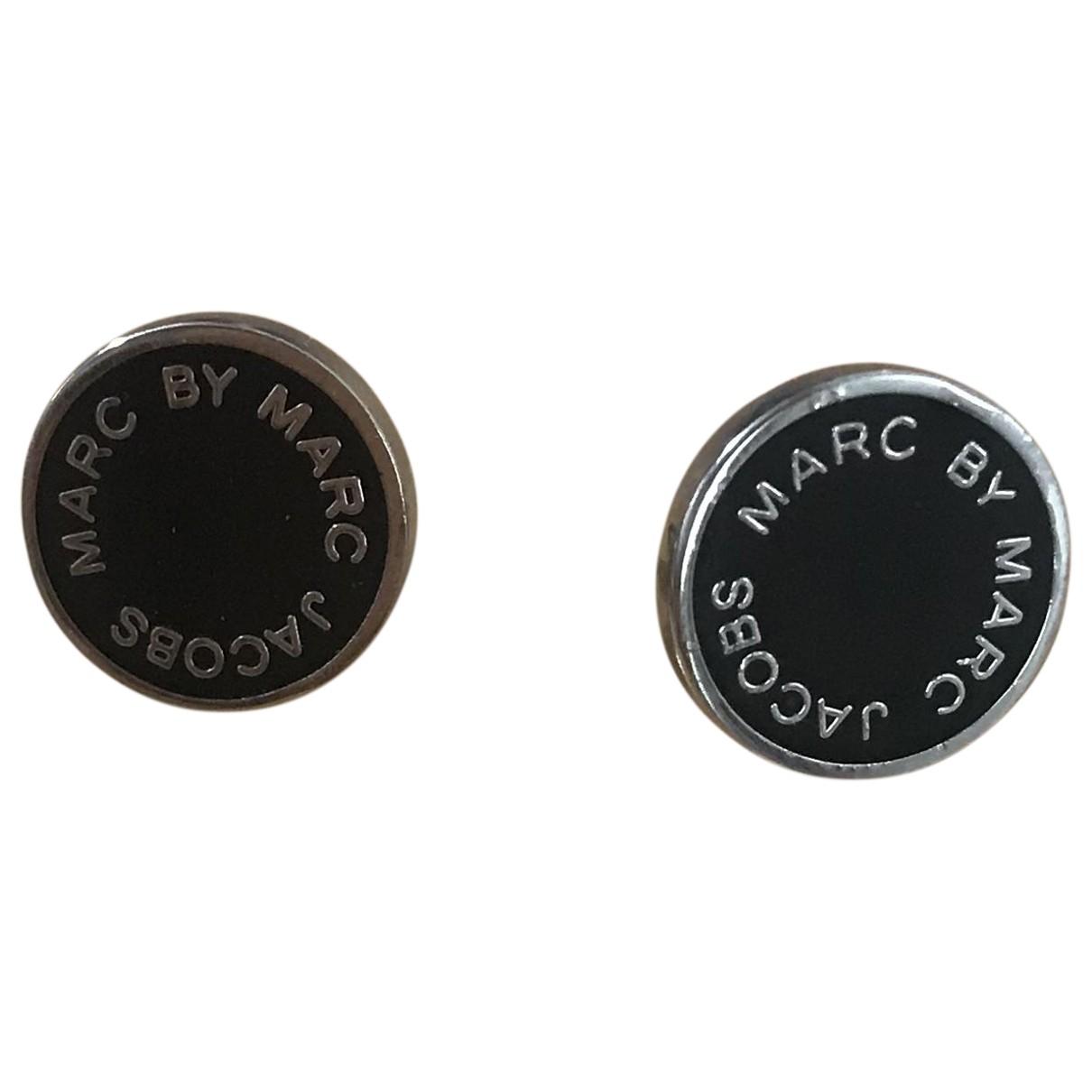 Marc By Marc Jacobs N Black Steel Earrings for Women N