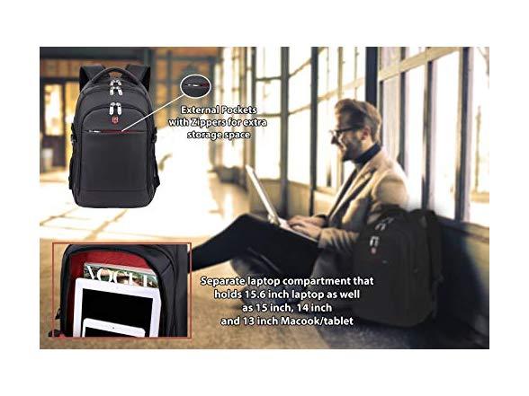 Ruigor Icon 92 Laptop Backpack, Black