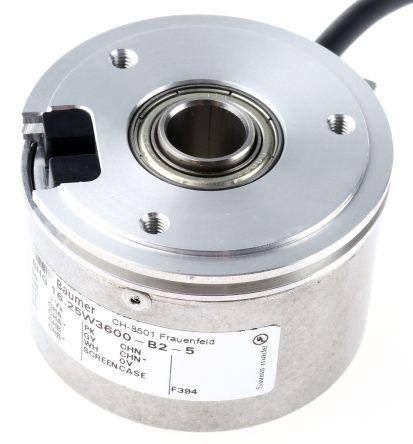 Baumer Incremental Encoder  BHG 16.25W.3600-B2-5 3600 ppr 12000rpm Hollow shaft 4.5 → 30 V dc