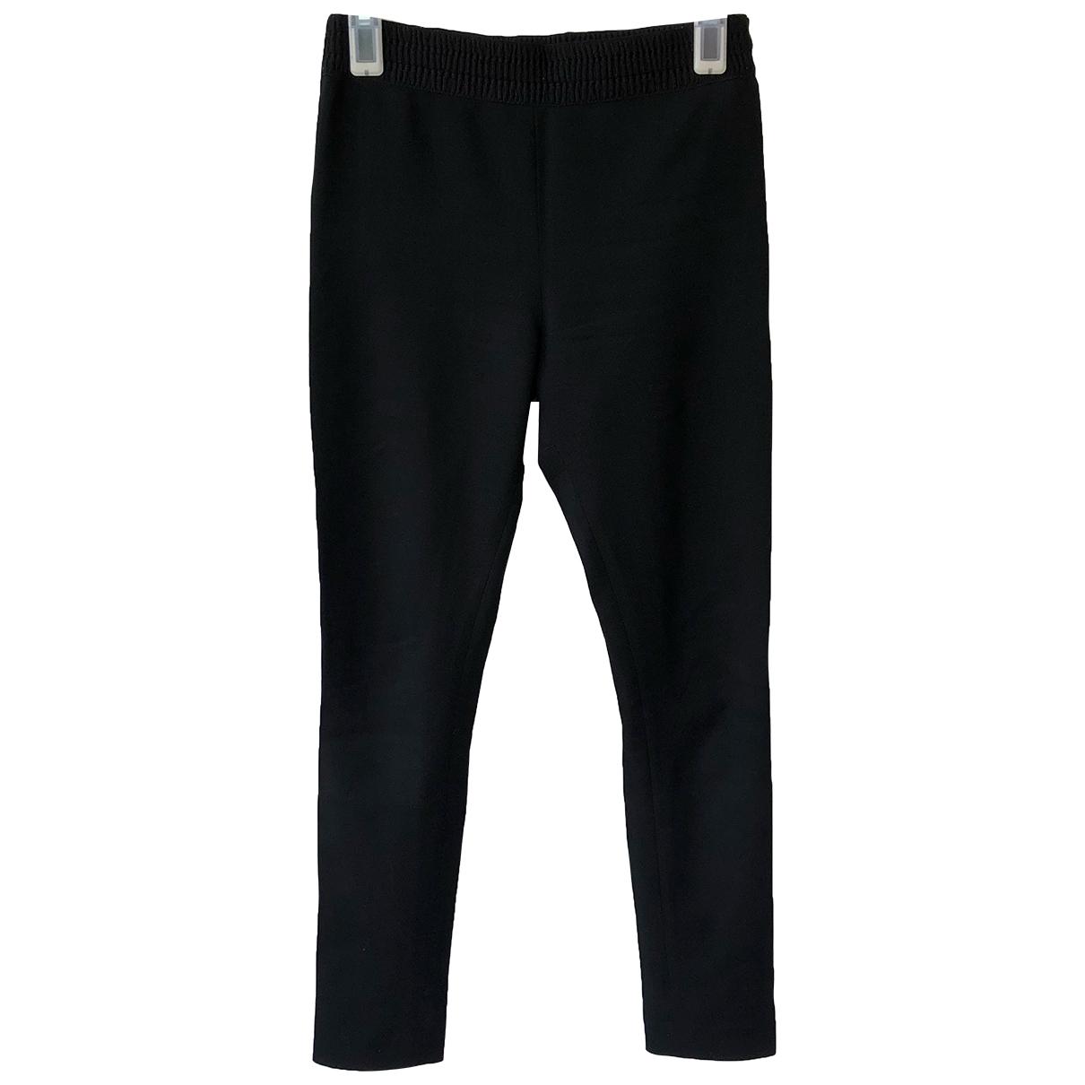 Acne Studios \N Black Wool Trousers for Women 34 FR