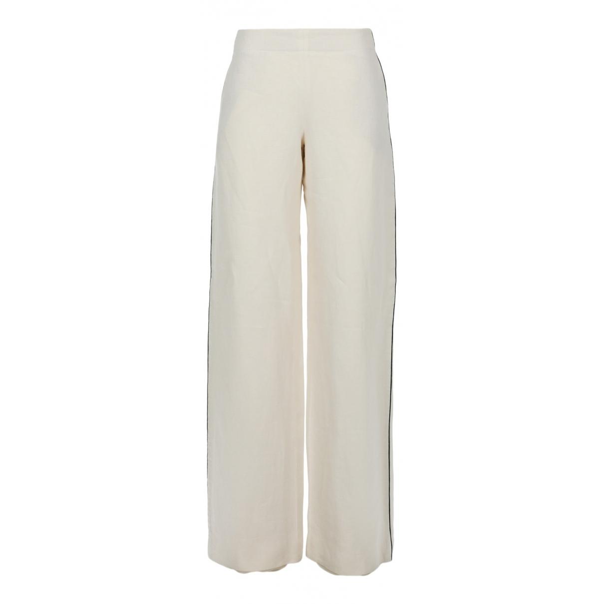 Hermès \N White Cotton Trousers for Women 38 FR