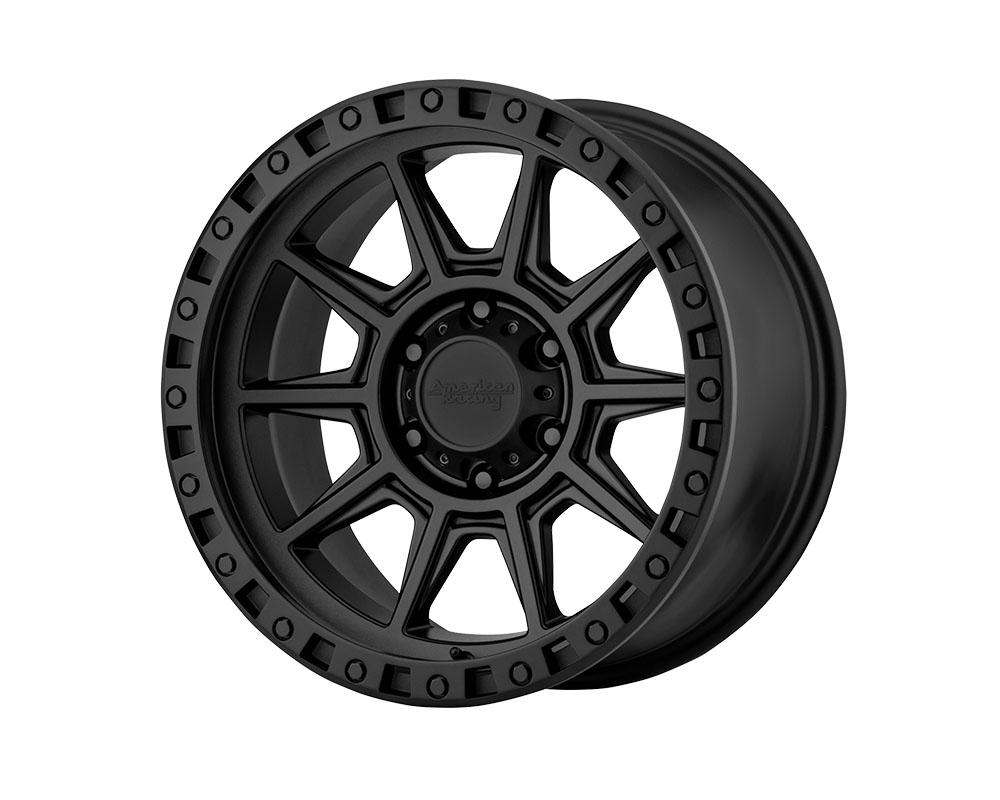 American Racing AR202 Wheel 17x9 6x6x139.7 -12mm Cast Iron Black