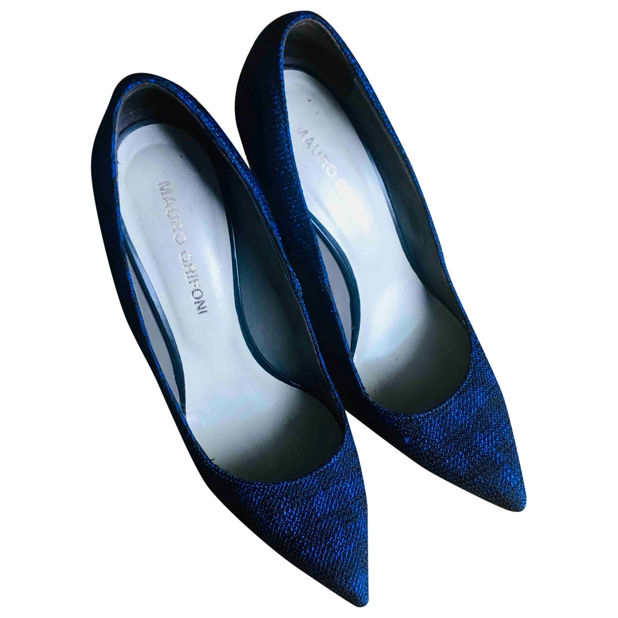 Mauro Grifoni \N Blue Cloth Heels for Women 40 EU