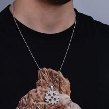 Maenner Halskette mit heissem Rad Dekor