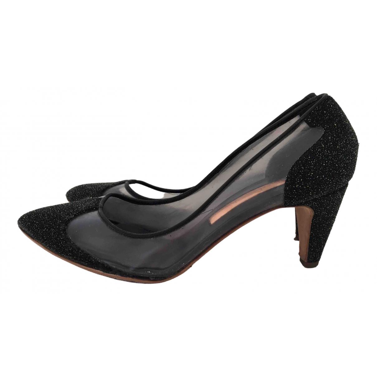 Rupert Sanderson \N Black Leather Heels for Women 39 EU
