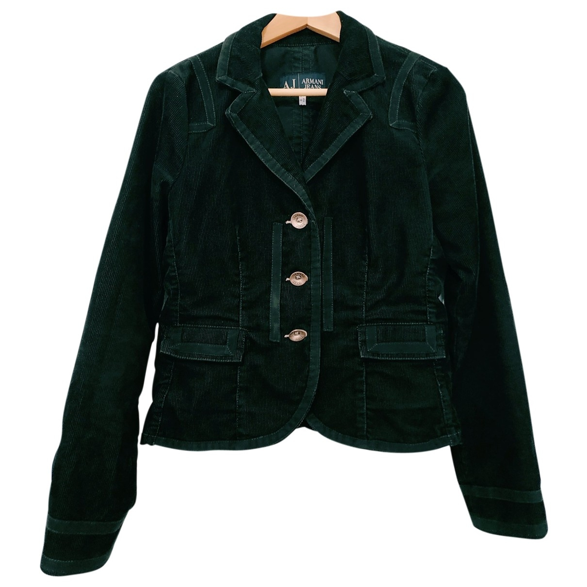 Armani Jeans \N Black Velvet jacket for Women 16 UK