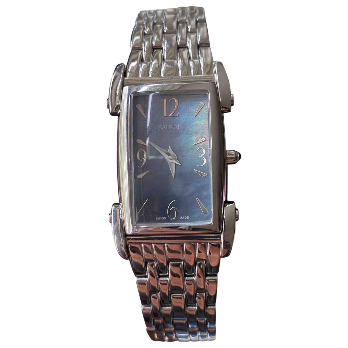 Balmain \N Silver Steel watch for Women \N