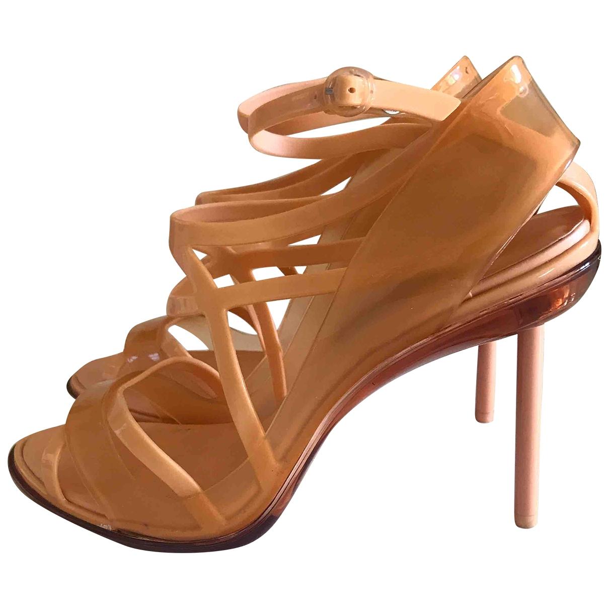 Jean Paul Gaultier \N Sandalen in  Orange Kunststoff