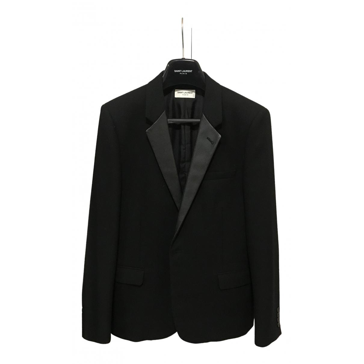 Saint Laurent \N Black Wool jacket  for Men 52 IT