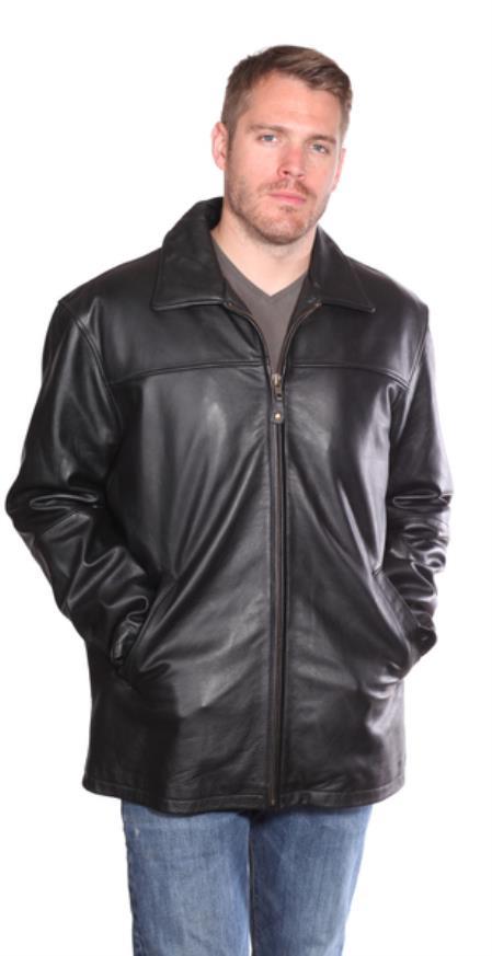 Camden Leather Hipster Coat Black