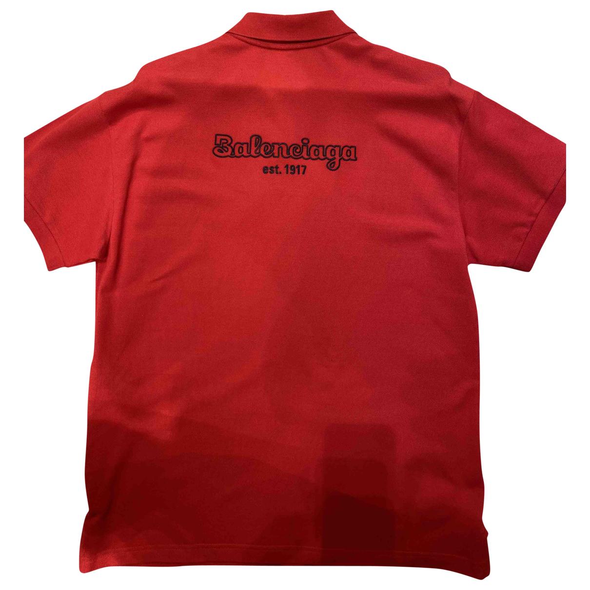 Balenciaga - Polos   pour homme en coton - rouge