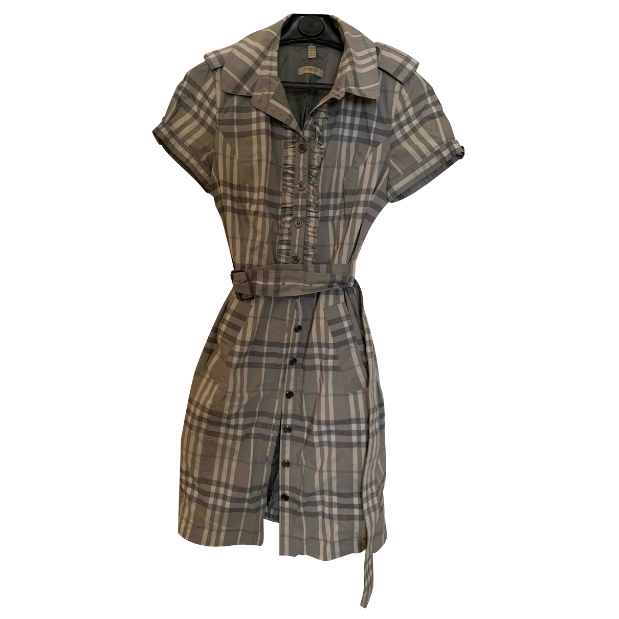 Burberry \N Grey Cotton - elasthane dress for Women 40 IT