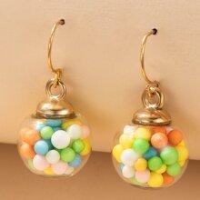 Ball Design Drop Earrings