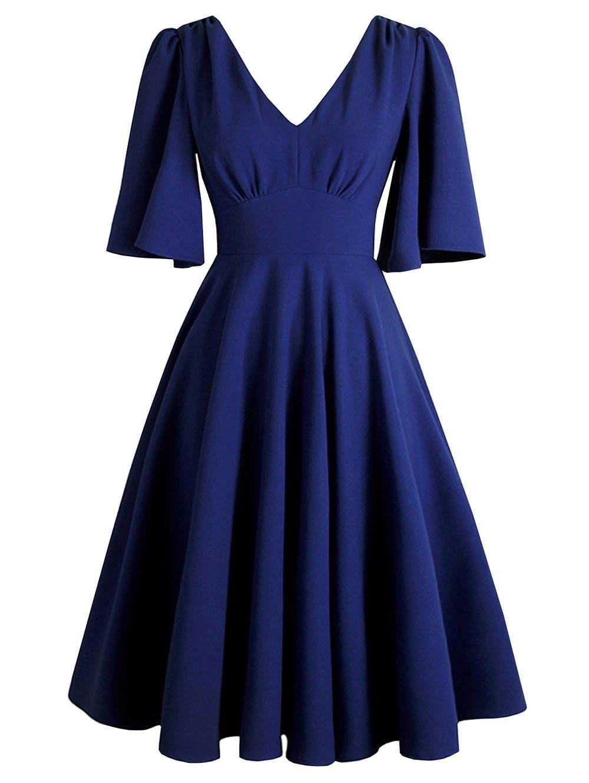 Plus Size Double V Kimono Sleeve Dress