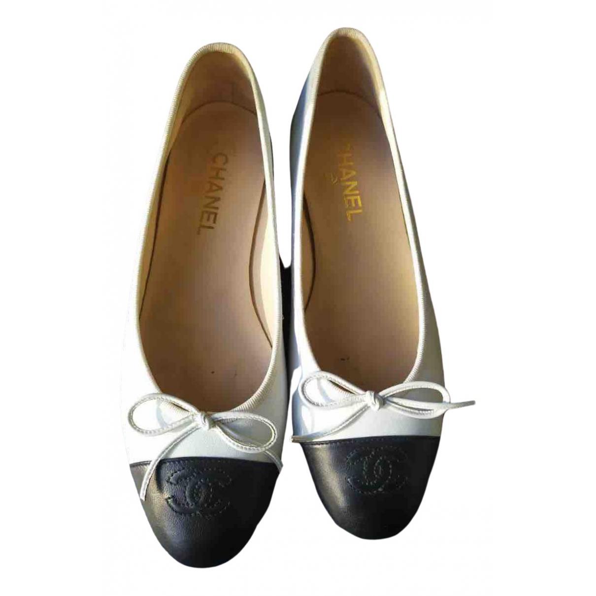 Chanel Slingback Beige Leather Ballet flats for Women 39 EU