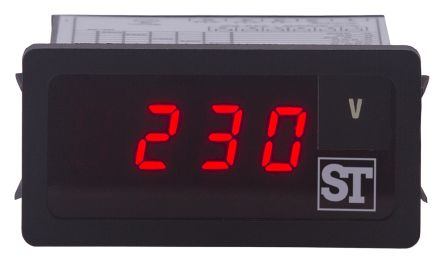 Sifam Tinsley BT90-A021C90000000 , 7 Segment Display Digital Panel Multi-Function Meter for Voltage, 22.2mm x 48mm