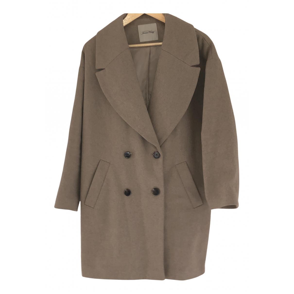 American Vintage N Beige Wool coat for Women M International