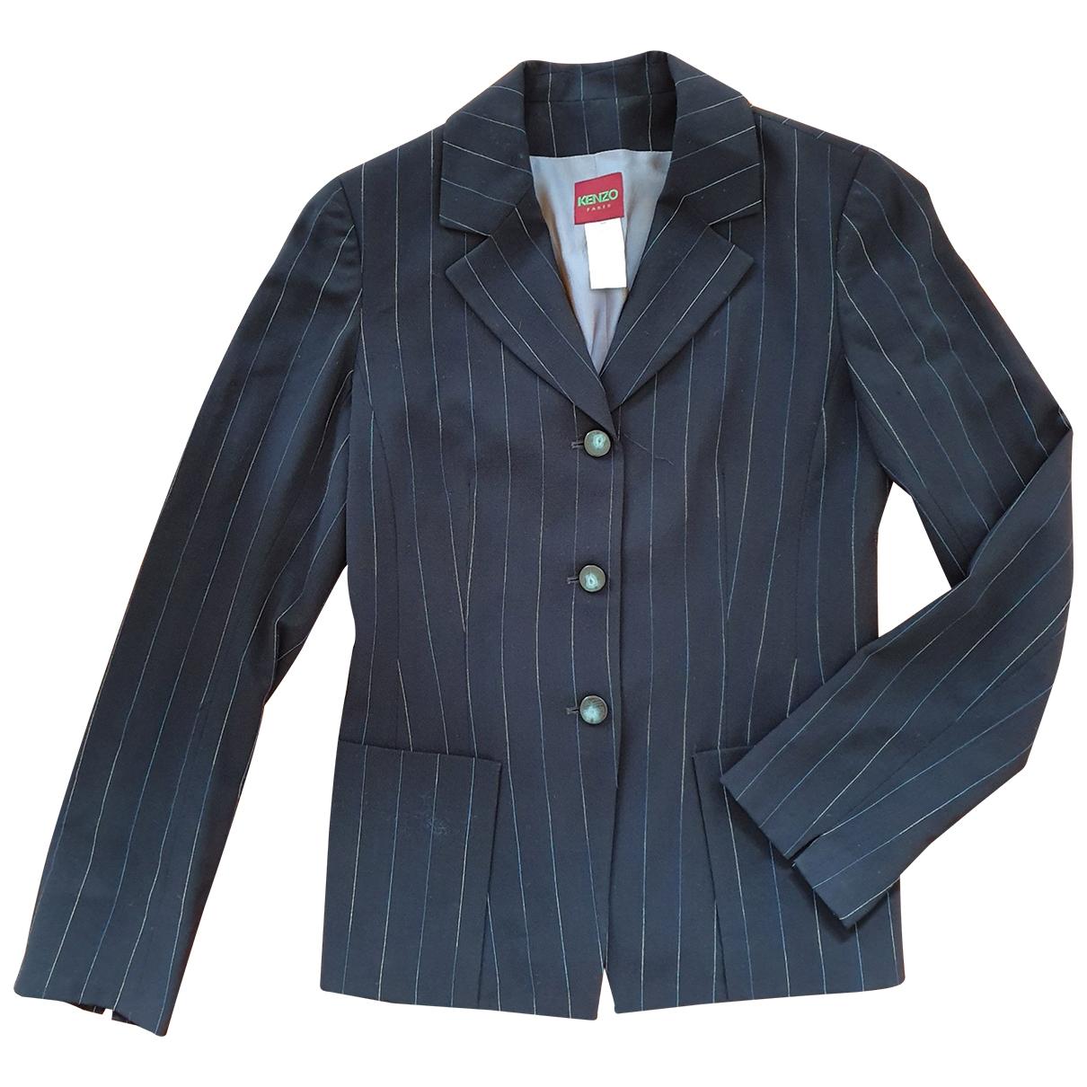 Kenzo - Veste   pour femme en laine - marine