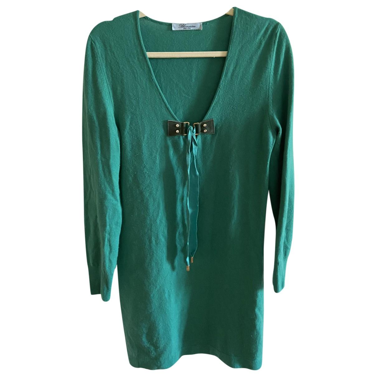 Blumarine \N Kleid in  Gruen Kaschmir