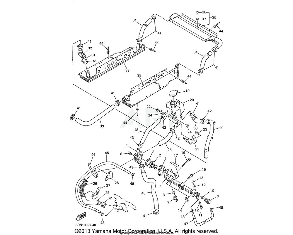 Yamaha OEM 8DF-12435-00-00 GASKET