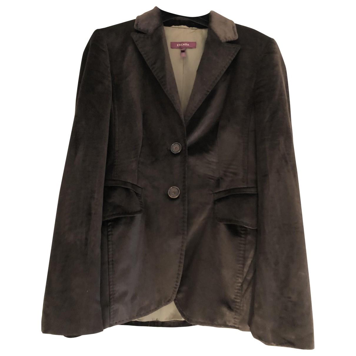 Escada \N Brown Velvet jacket for Women 34 FR
