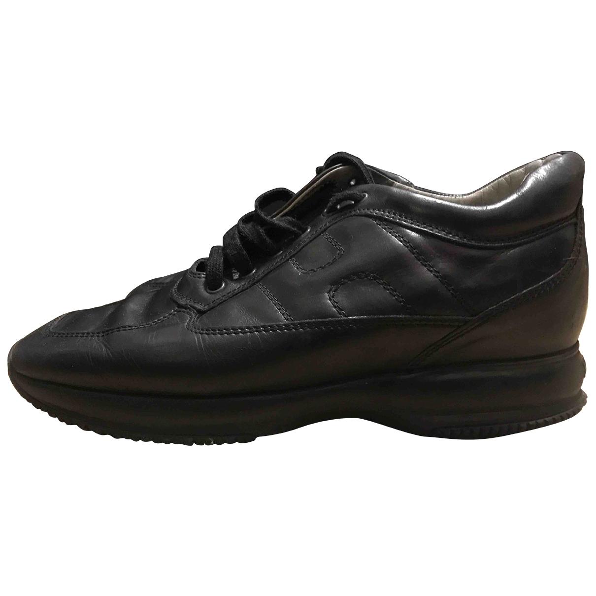 Hogan \N Black Leather Boots for Men 8 UK