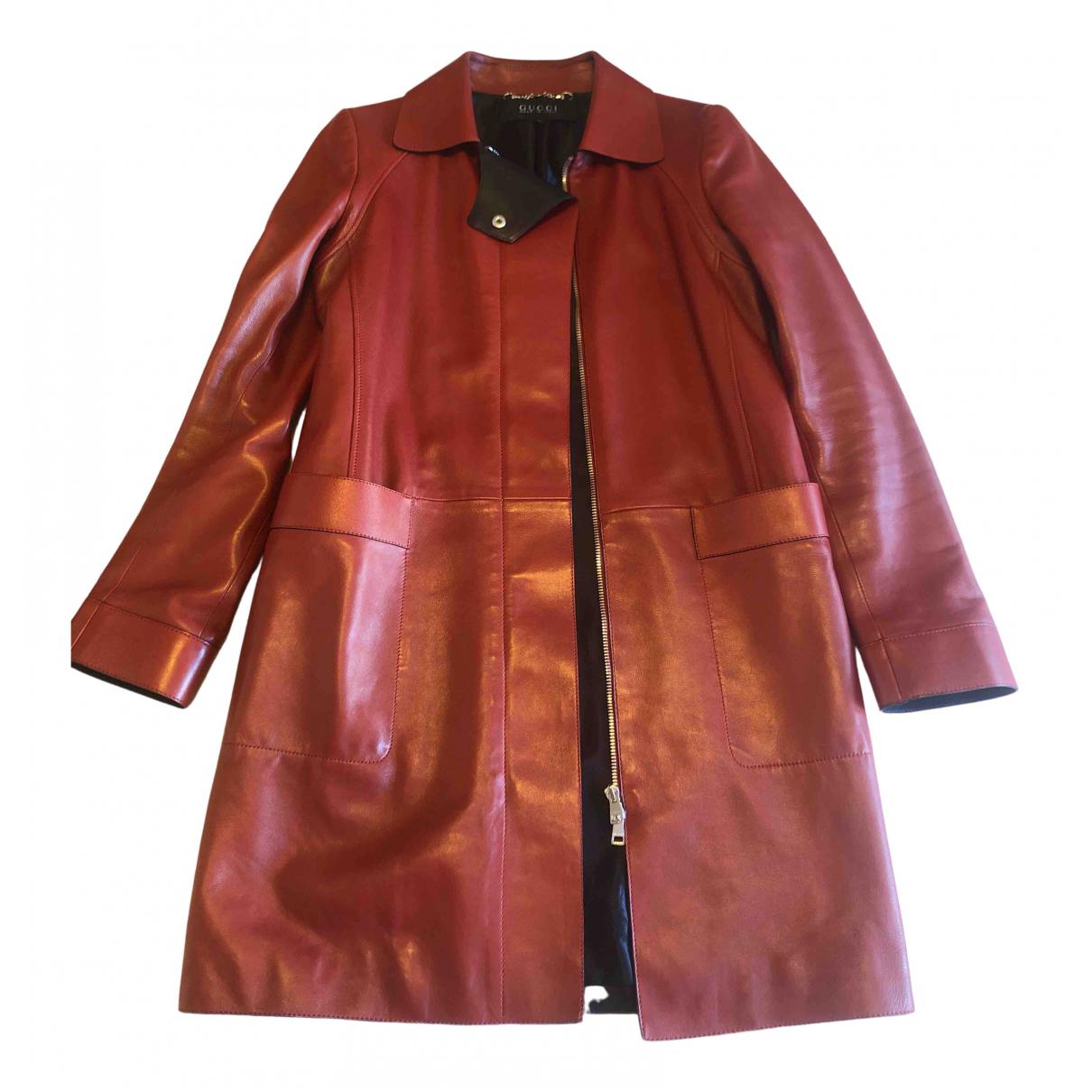 Gucci - Manteau   pour femme en cuir