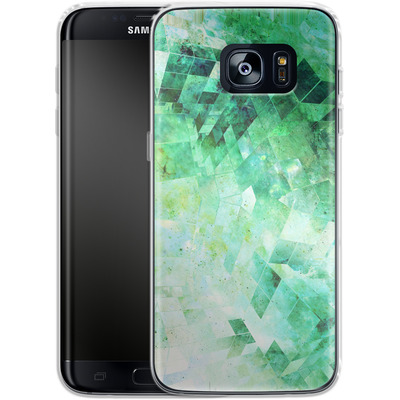 Samsung Galaxy S7 Edge Silikon Handyhuelle - Occult Galaxy Structure von Barruf