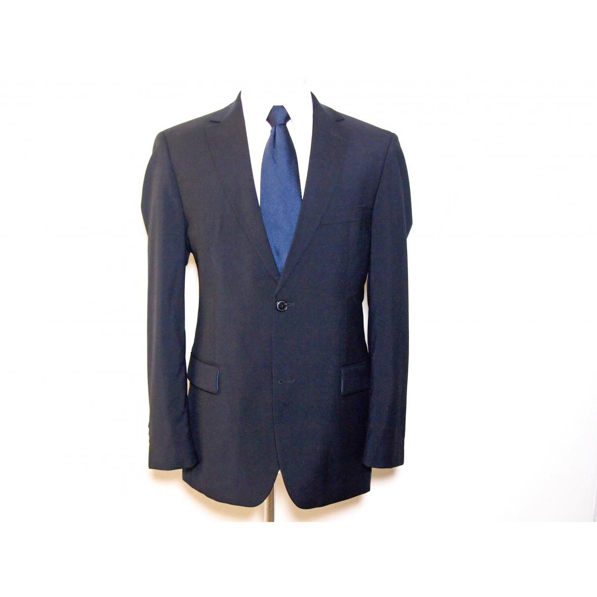 Hugo Boss - Vestes.Blousons   pour homme en laine - bleu