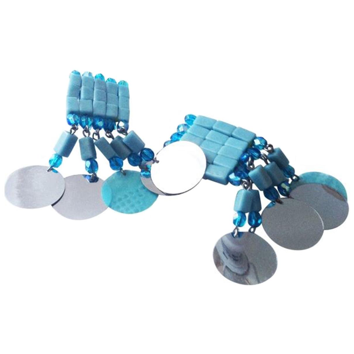 - Boucles doreilles Turquoises pour femme en metal - turquoise
