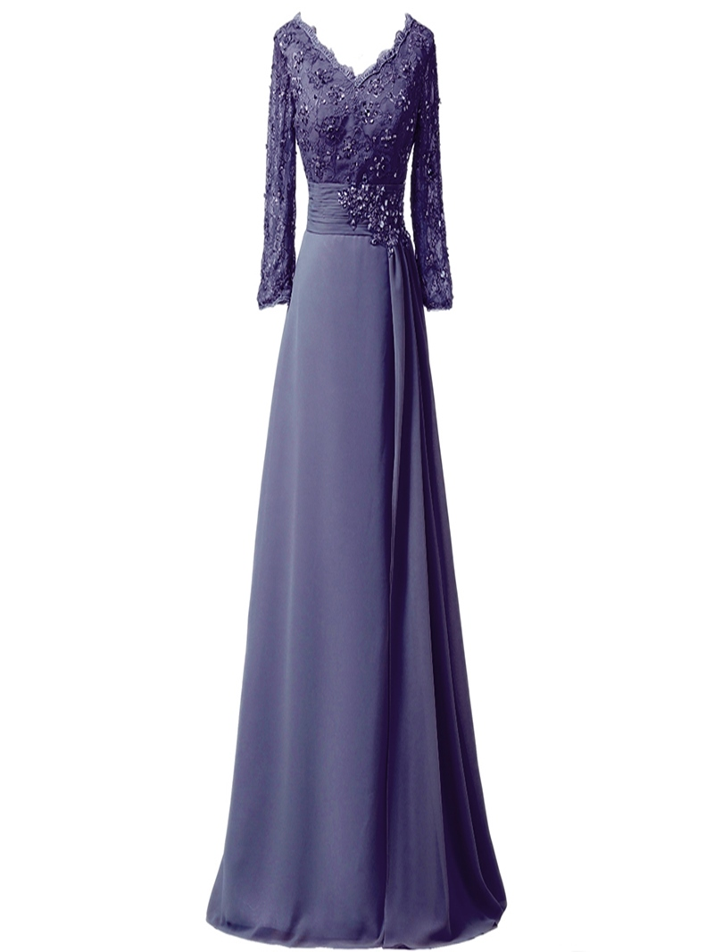 Ericdress Beading Appliques Long Sleeves Mother Of The Bride Dress