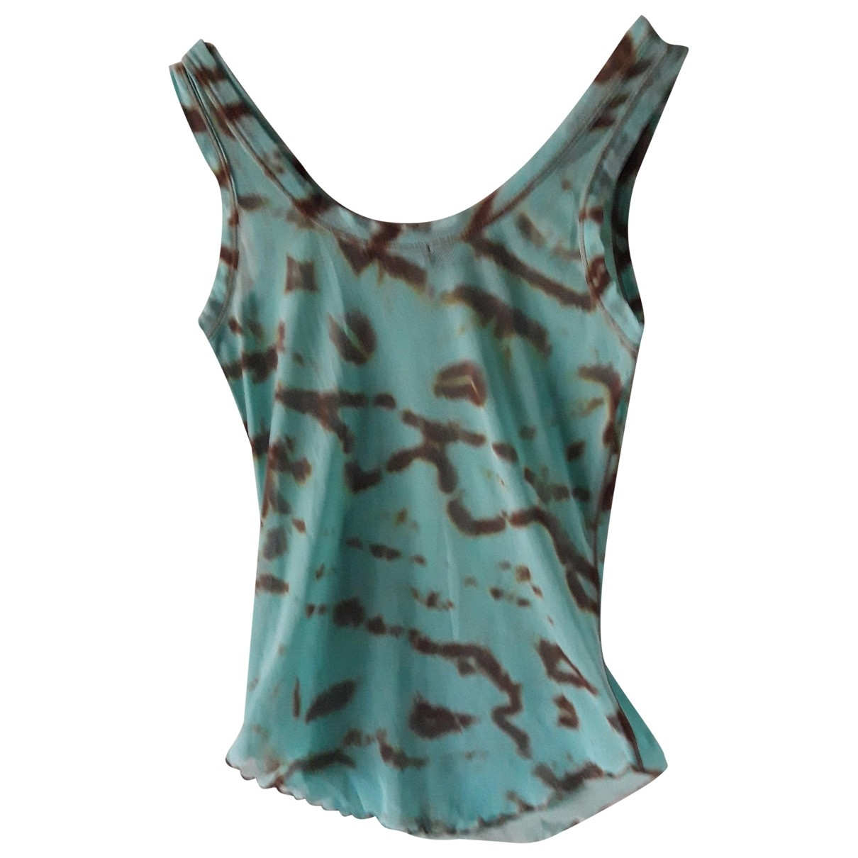 Non Signe / Unsigned Hippie Chic Top in  Tuerkis Synthetik