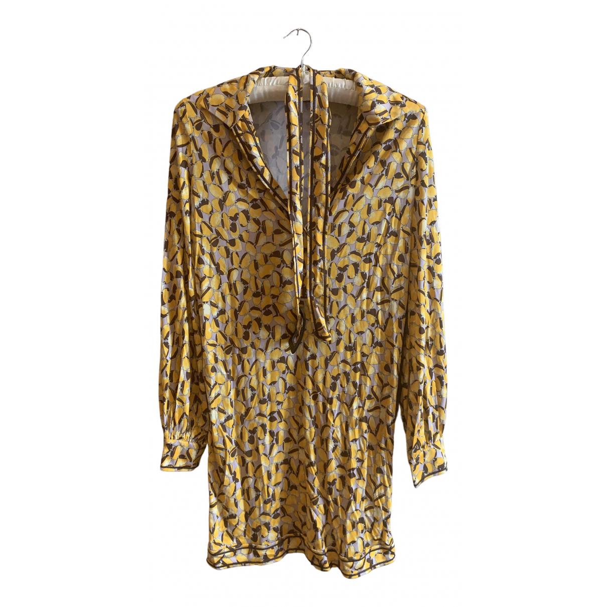Missoni \N Kleid in  Gelb Baumwolle