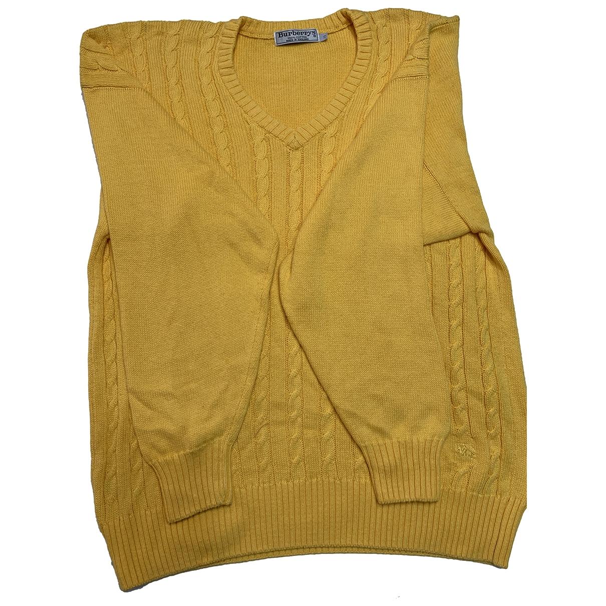 Burberry \N Yellow Wool Knitwear & Sweatshirts for Men M International