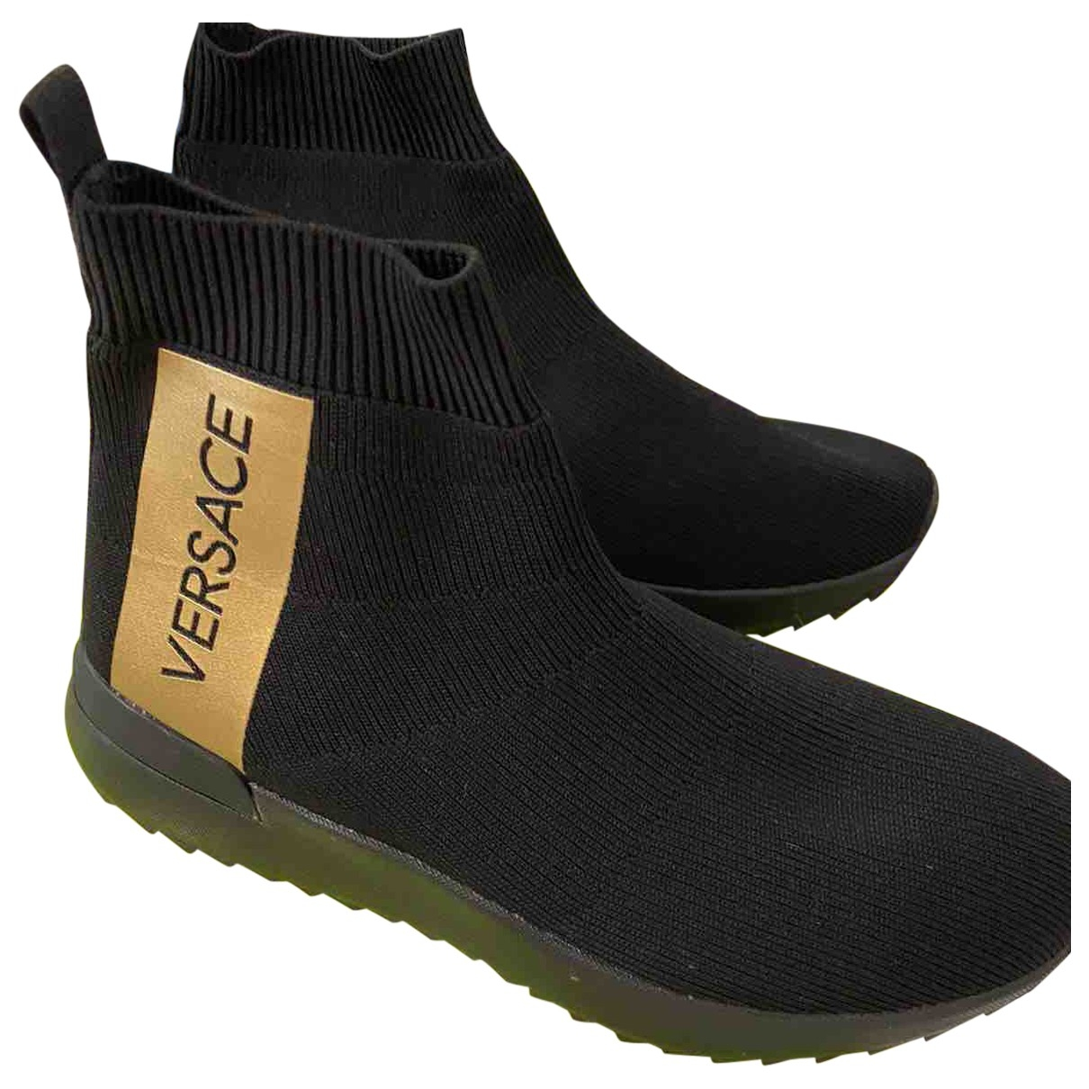 Versace Jeans \N Black Cloth Ankle boots for Women 39 EU