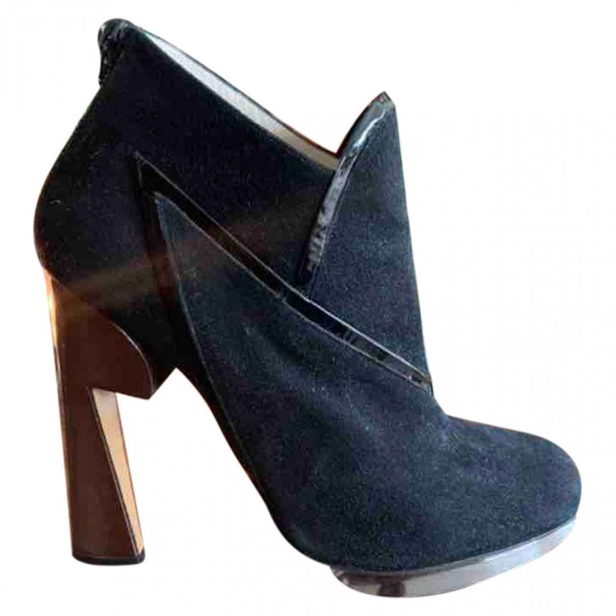 Nicholas Kirkwood \N Black Suede Ankle boots for Women 36.5 EU