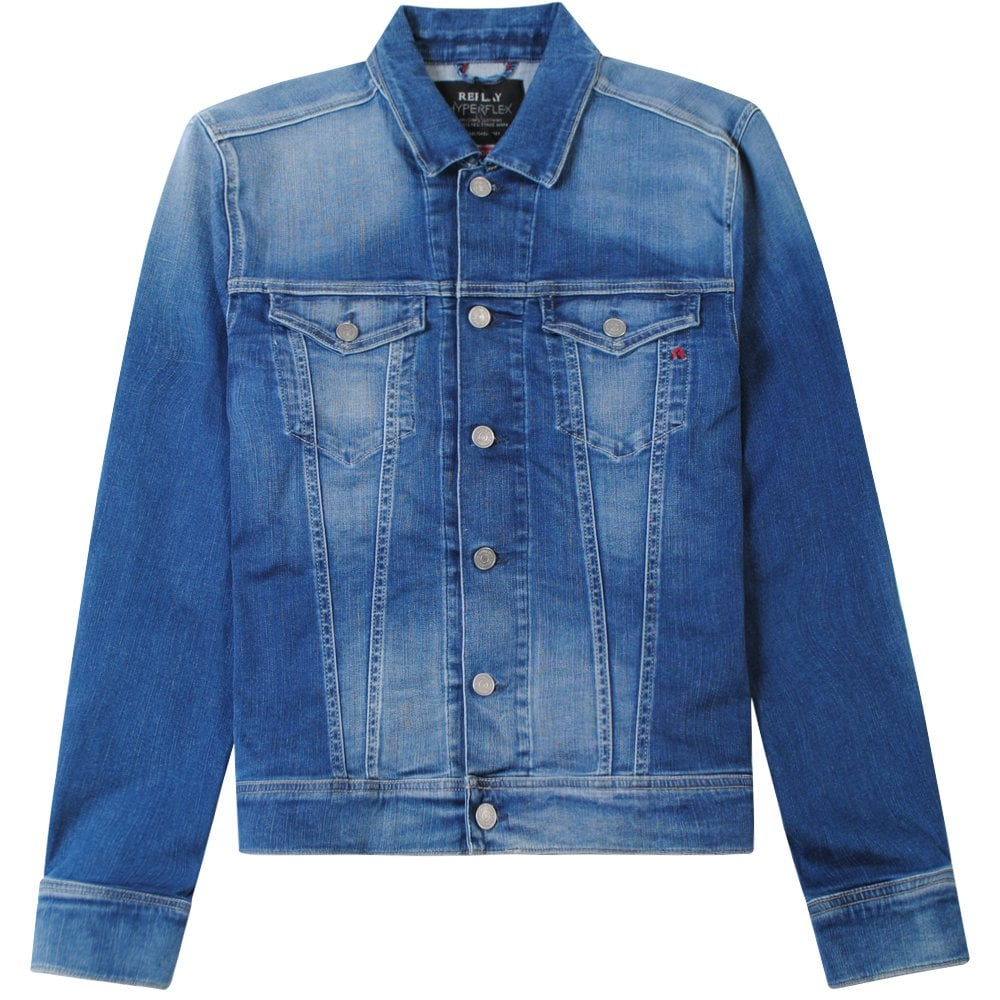 Replay Classic Denim Jacket Light Blue Colour: BLUE, Size: EXTRA LARGE