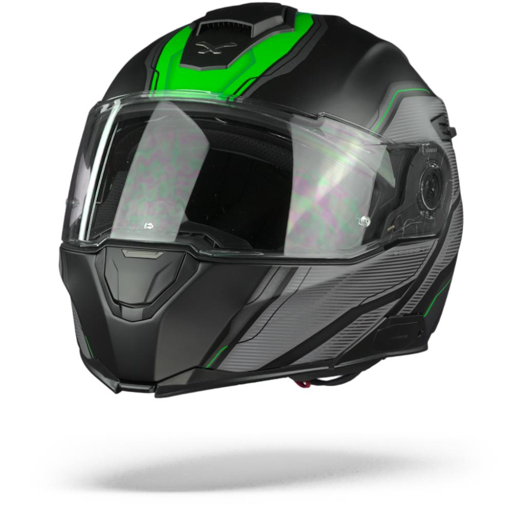 Nexx X.Vilitur Paradox Casco Modular Negro Verde Mate S