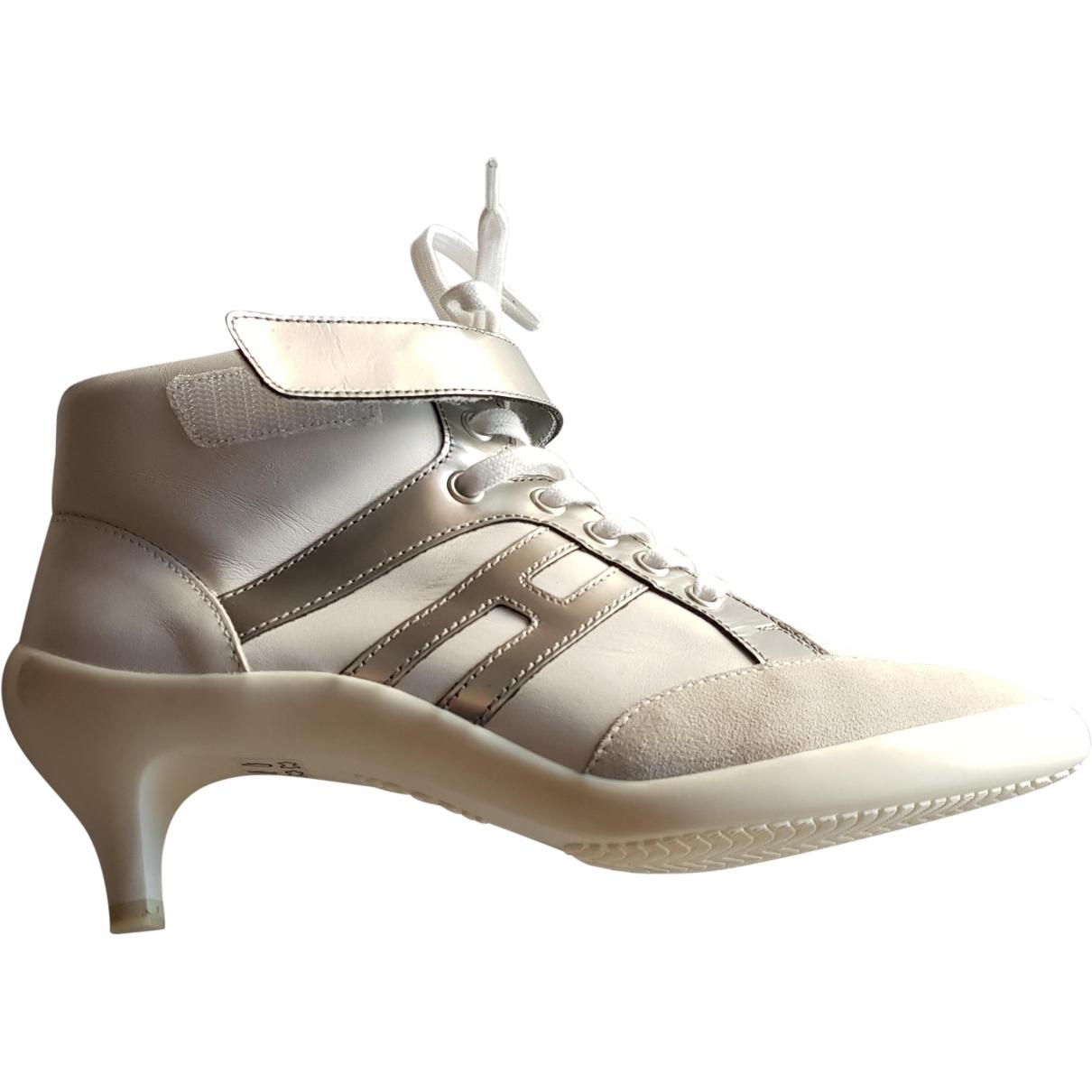 Hogan \N White Leather Heels for Women 36.5 EU
