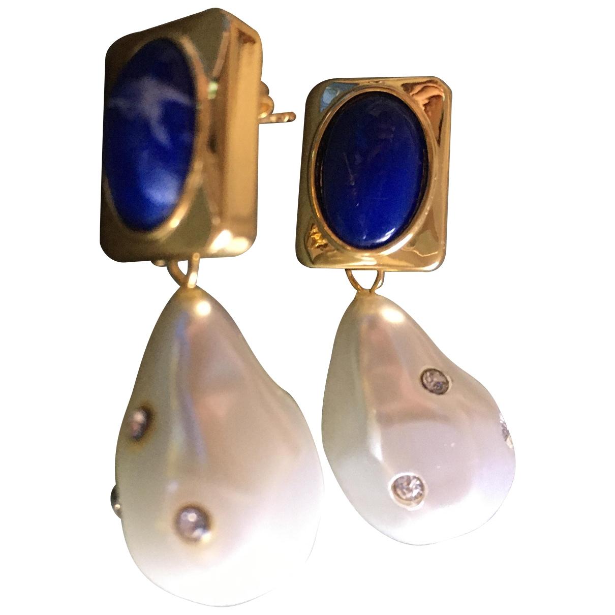 - Boucles doreilles Lapis lazuli pour femme en metal - bleu