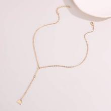 Triangle Y Lariat Necklace