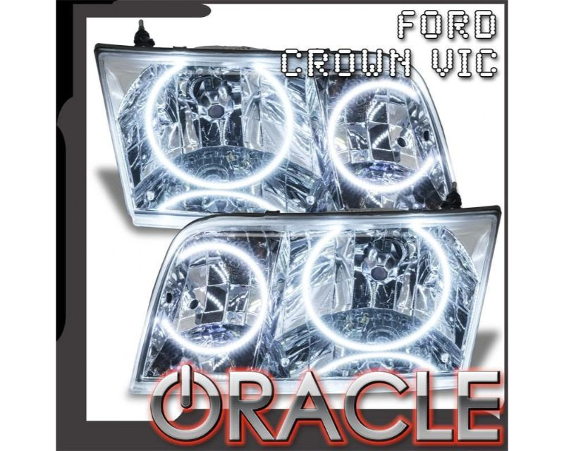 Oracle Lighting 7724-004 Pre-Assembled Headlights - Chrome - Halogen Green Ford Crown Victoria 1998-2011