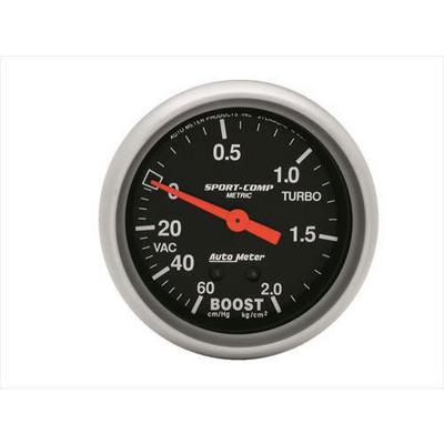 Auto Meter Sport-Comp Mechanical Metric Unit Boost/Vacuum Gauge - 3401-J