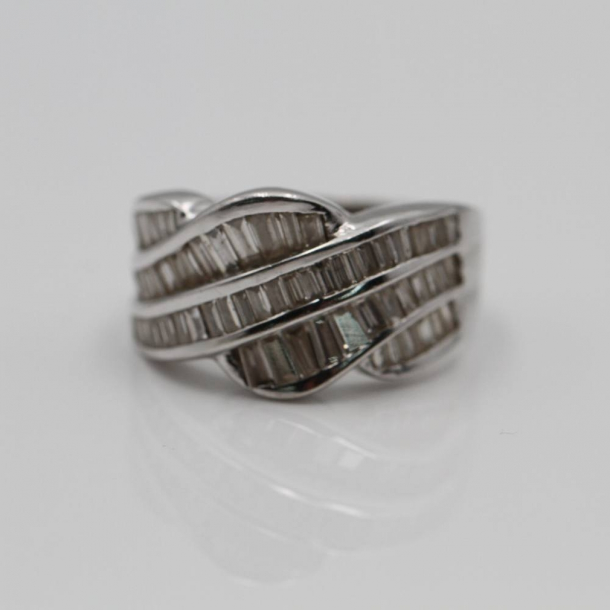 Non Signe / Unsigned Alliance Ring in  Metallic Weissgold