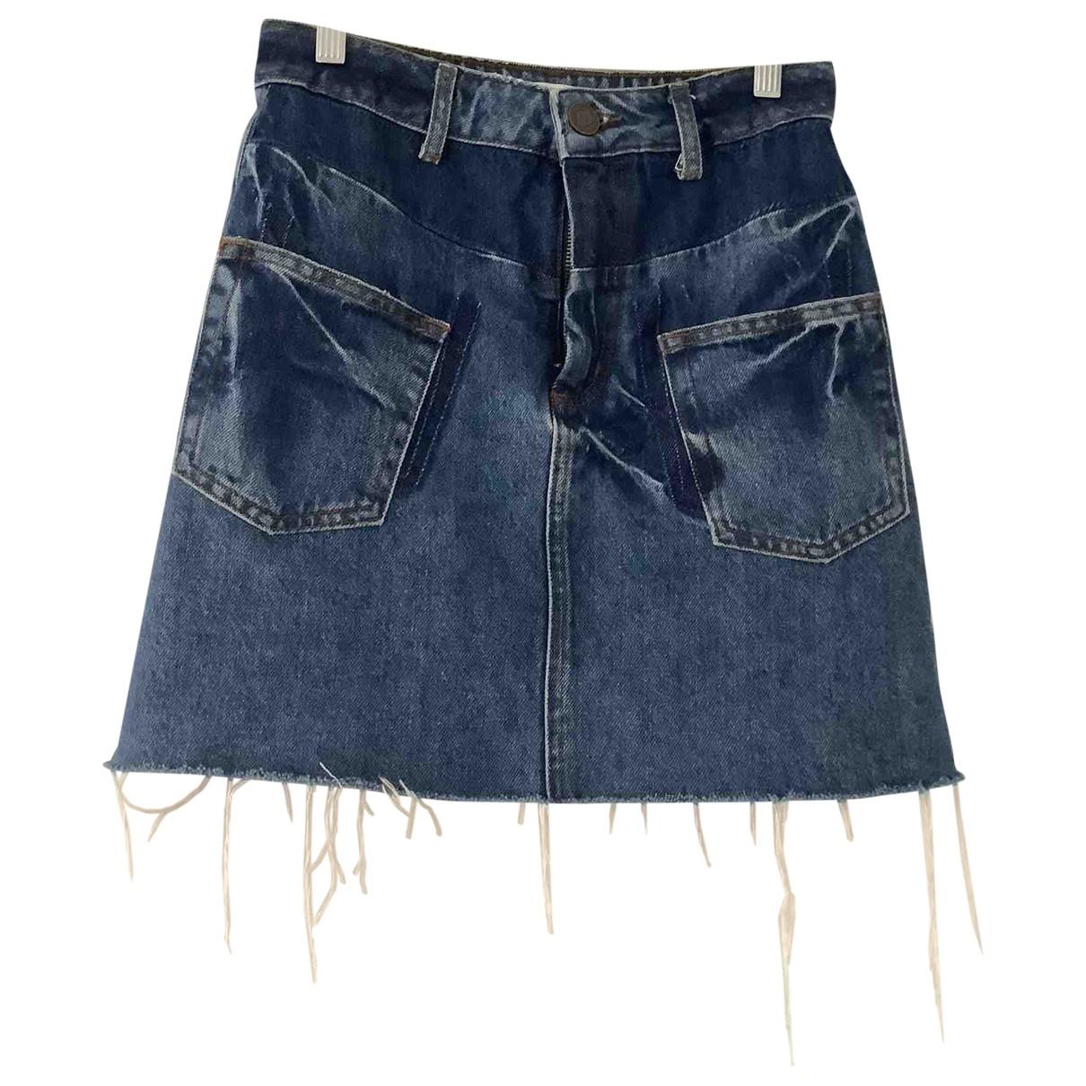 Sandro \N Rocke in  Blau Denim - Jeans